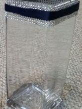 "12"" square glass vases"