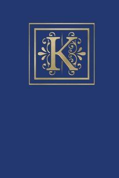 Ruled Monogram Journal K