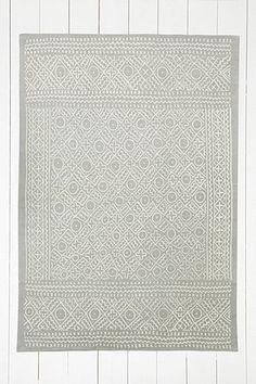 Tapis Gale à imprimé géométrique 5x7 gris