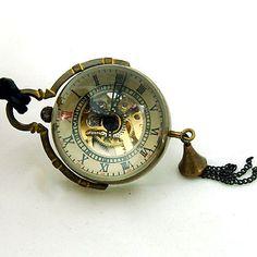 Steam Punk Pocket Watch Necklace    £24.00 #statementjewelry #statementjewellery #jewelry #jewellery #ThatsPretty #fashion #vintagejewelry