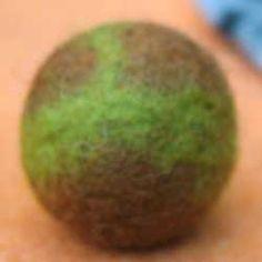 Felt balls from wool roving tutorial