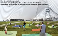 Wind Harp! Renewable energy artwork that welcomes people to enjoy the symphony of sounds generated by wind.
