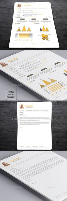Simple Resume Template PSD #design Download: http://graphicriver.net/item/simple-resume-templates/13288956?ref=ksioks