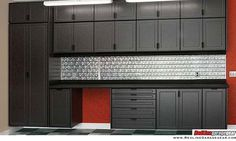Garage is a multifunctional space where we put almost 'everything' on there. Read MoreTop 5 Simple Wood Garage Cabinets Ideas You'll Love Armoire Garage, Garage Closet, Garage Shed, Garage Cabinets, Garage House, Garage Plans, Garage Doors, Garage Ideas, Steel Garage