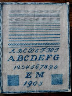 early blue sampler