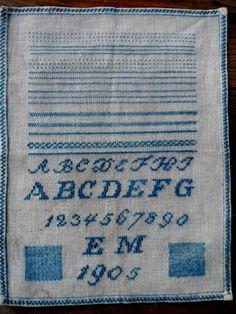 Antique sampler by centralavenue on Etsy, $265.00