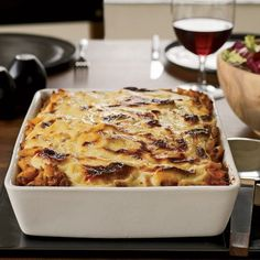 """Lasagna-Style Baked Pennette with Meat Sauce - Baked Pasta Dishes from Food & Wine.This hearty, meaty baked pasta is Tom Valenti's ultimate make–ahead meal. """"It's actually better the next day. Pumpkin Lasagna, Meat Lasagna, Cheese Lasagna, Lasagna Recipes, Ravioli Lasagna, Baked Pasta Dishes, Baked Pasta Recipes, Baked Penne, Meat Sauce Recipes"""
