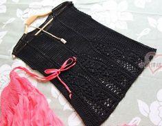 Black Top free crochet graph pattern