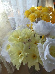crepe paper flowers クレープペーパーフラワー