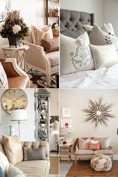 interior decor inspiration, classy transitional style