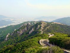 Hiking the fortress walls of #Busan