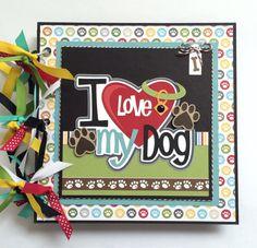 Dog Mini Album Kit or Premade Scrapbook Album Pet available at ArtsyAlbums
