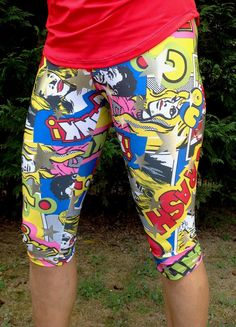 Wonder woman action inspired Kaboom crash capri by iGlowRunning, $30.00