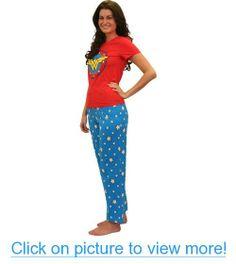 Wonder Woman Superhero Pajama Set for Women