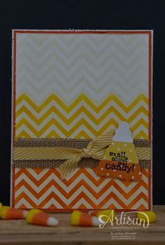 Artisan Wednesday Wow ~ Crazy for Candy Corn Card ~ Sleepless Stamper