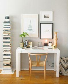 White West Elm Parsons Desk