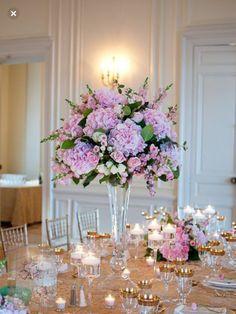 Tall arrangement at Glen Manor House by Sayles Livingston Flowers. Purple Wedding, Floral Wedding, Wedding Bouquets, Wedding Flowers, Purple Party, Tall Wedding Centerpieces, Garden Wedding Decorations, Centrepieces, Table Decorations