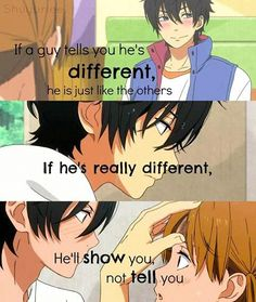 """Photo: """"If a guy tells you he's different, he is just like the others."""" Anime~ My Little Monster ~ Sad Anime Quotes, Manga Quotes, My Little Monster, Little Monsters, Anime People, Anime Guys, Me Me Me Anime, Anime Love, Shizuku Mizutani"""