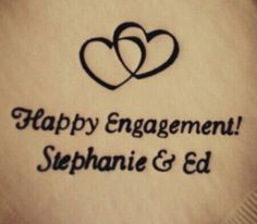 #engagement personalized napkins! www.napkinspersonalized.com