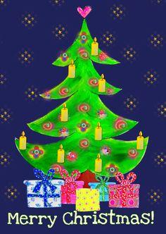 Kerstkaart Kerstboom PA, verkrijgbaar bij #kaartje2go voor €1,89
