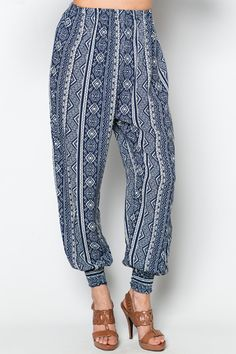 Blue+Tribal+Leisure+Trousers