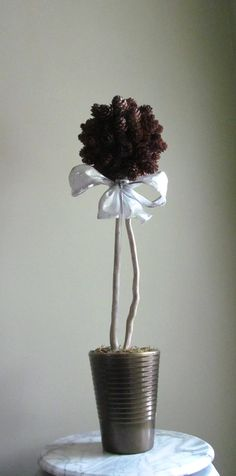 Holiday Pine Cone Ball and Driftwood Tree Pine by DriftingConcepts