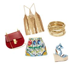 """""""dolce gold"""" by fotini3181 on Polyvore featuring Dolce&Gabbana, TIBI, ABS by Allen Schwartz, Ralph Lauren and Chloé"""