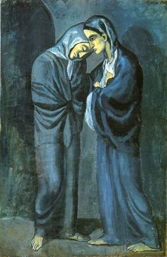 Picasso Paintings-Two Sisters, 1902