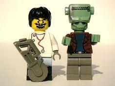 El doctor Frankenstein y su monstruo, de Lego.