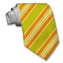 Striped Ties For Men Green And Orange Tir