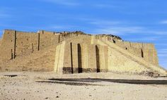 """This is the famous ziggurat at Ur. The ancient city, which literally translates to """"city"""" in Sumerian and Akkadian, was one of the most important of the Sumerians' cities in the 4th and early 3rd milleniums BCE. The ziggurat is to the Sumerian moon god Nanna, known as Sin to the Babylonians. It is quite impressive, standing 21m (68.9 ft) high. It is very well preserved, and was known asE-gish-shir-gal (""""house of the great light"""")"""