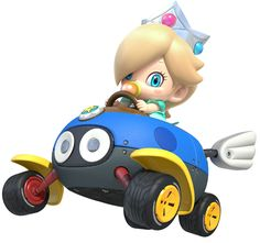 Baby Rosalina is a minor character in the Mario franchise designed to be the infant counterpart of Rosalina. Baby Rosalina debuted as an unlockable racer in Mario Kart similar to how Baby Daisy was introduced in Mario Kart Wii. Mario Kart 8, Mario Bros., Mario And Luigi, Super Mario Brothers, Super Mario Bros, Princesa Daisy, Nintendo Princess, Otaku, Nintendo Characters