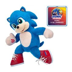 This speedy Sonic the Hedgehog plush set features Sonic in his signature pair of red shoes and an action-packed sound chip. Shop now at Build-A-Bear! Sonic The Hedgehog, Hedgehog Movie, Sonic And Amy, Sonic And Shadow, Yoshi Amiibo, Sonic Birthday Parties, Valentines Day Teddy Bear, Tika Sumpter, Blue Gift