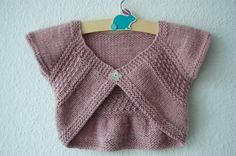 Entrechat Baby and Child Shrug PDF knitting pattern by frogginette, $5.00