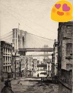 #Cobwebs (Brooklyn Bridge). 1921. Etching. Fletcher 85. 9 5/8 x 7 1/2 (sheet 12 1/8 x 10 1/2). Edition 75 (+ 10 trial proofs). Illustrated: Beall, American Print...
