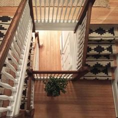This glorious staircase in a center hall Colonial we're currently working on is pure perfection! We are in love with these runners we used on the stairs. Our clients installed them and they did a magnificent job! Staircase Runner, Modern Staircase, Staircase Design, Staircase Ideas, Timber Stair, Center Hall Colonial, Hudson Homes, Staircase Makeover, Wooden Stairs
