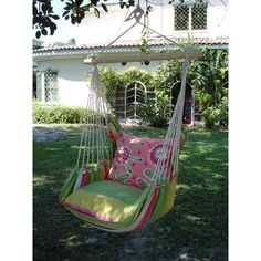 Have to have it. Magnolia Casual Fresh Lime Hammock Chair with Pillow Set $159.99