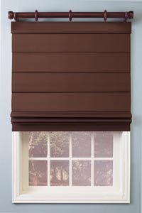roman shade with curtain rod
