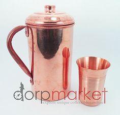 Hand Made Pure and best Quality Copper Pitcher Jug & Glas... http://www.amazon.com/dp/B00M2M1UOY/ref=cm_sw_r_pi_dp_5TKhxb0SQBMAQ