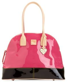 Dooney & Bourke Handbag, Patent Domed Satchel