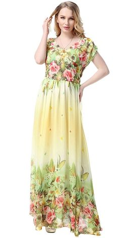 05d02e744278 Plus Big Size Women Dresses Maxi Boho Beach Dress Elegant Summer Dress  Female Chiffon Robe Ete 2016 Party Vestidos Sundress. Clothes   Fashion