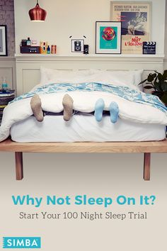 We're confident you'll fall head over heals for your new Simba Hybrid mattress -- so confident, we're giving you 100 nights to try it out. Enjoy the comfort of foam with the support of 2,500 patented conical pocket springs. Get yours today at simbasleep.com.