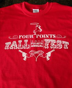Shirt Kong: We can do wonders with a one color print. Love the details in these Western-inspired fonts! #screenprinting #Western #FallFest #eventshirts #tshirts #custom #shirtkong