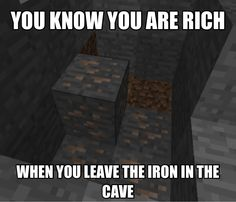 Minecraft - When You Leave Iron♢ #Video_Games #Gamer #Gaming