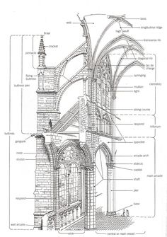 cross-section of a cathedral | Gothic Cathedral Section