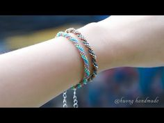 Triple spiral bracelet. Simple and easy to make for beginner. Beaded jewelry - YouTube Bracelet Crafts, Jewelry Crafts, Beaded Bracelets, Seed Bead Necklace, Necklace Set, Beaded Necklace, Beaded Jewelry Patterns, Jewelry Making Tutorials, Bracelet Tutorial
