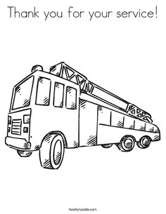printable trucks to color | Printable Fire Truck Coloring Pages ...
