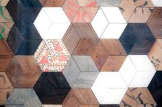 Close up/ wooden patchwork by Controprogetto