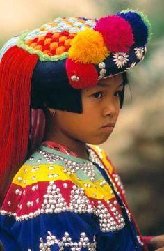 Lisu girl, Northern Thailand.