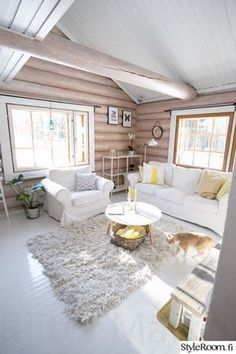 mökki nail designs for 9 year olds - Nail Desing Cabin Homes, Log Homes, Cabin Interior Design, House Design, Design Design, Modern Log Cabins, Rustic Cabins, Log Cabin Living, Log Home Interiors